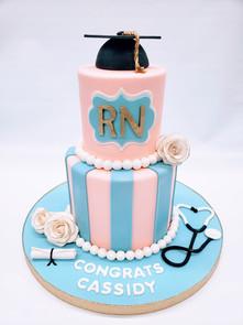 RN Graduation Cake