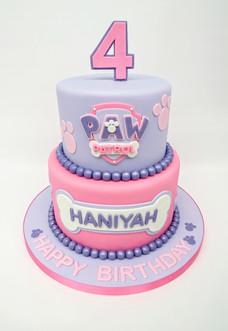 Pink Purple Paw Patrol Cake