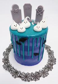 Ghost Drip Cake