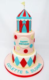 Pink Circus Cake