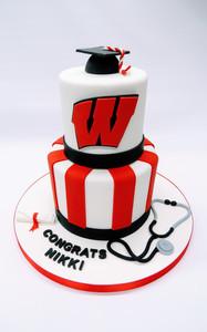 UW 2 Tier Cake