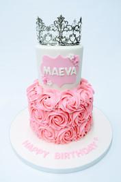 2 Tier Princess Cake
