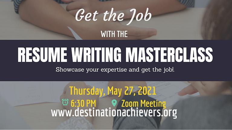 Resume Writing Masterclass