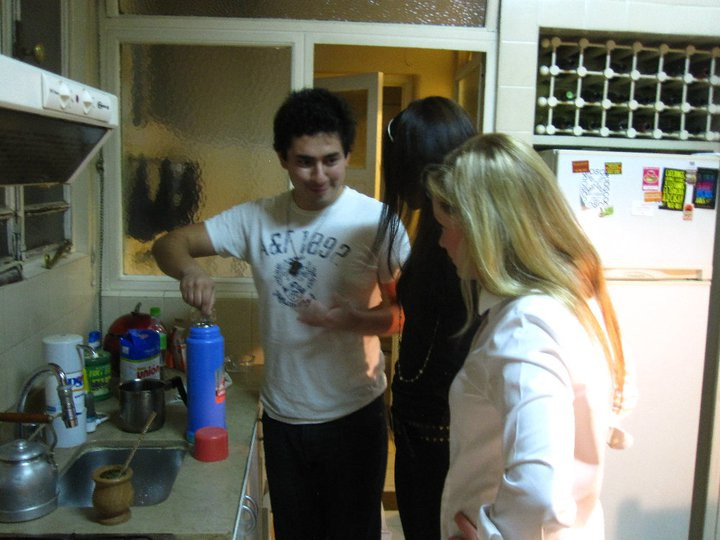 Learning how to drink mate in Argentina.