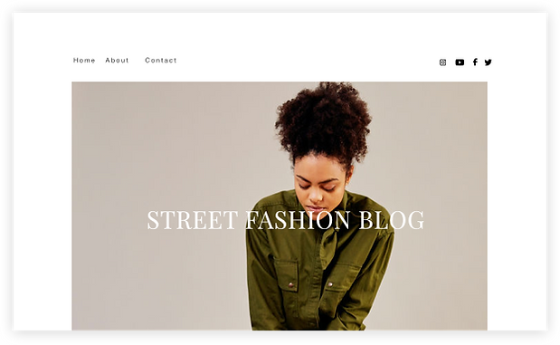 Homepage for a street fashion blog.