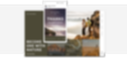 Homepage for a travel blog.