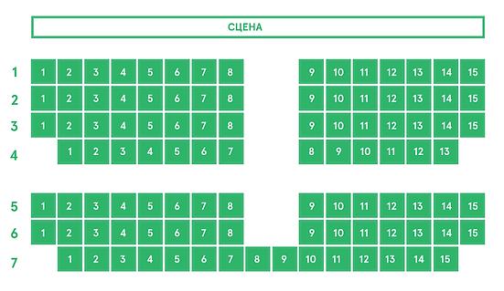 Схема зала Воронежского государственного Театра оперы и балета