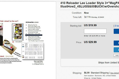 410 Reloader - Lee Loader Like - See Amazing Testimonials!!!