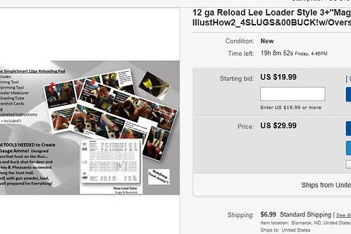 12 Gauge 'Easy' Reloader - Lee Loader Like