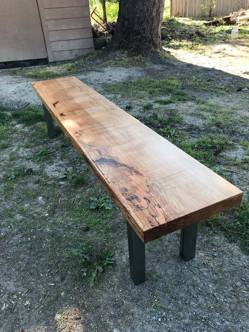 Spalted Maple Dining Bench