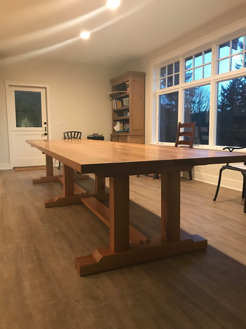 14' French Monestary Inspired Trestle Dining Table