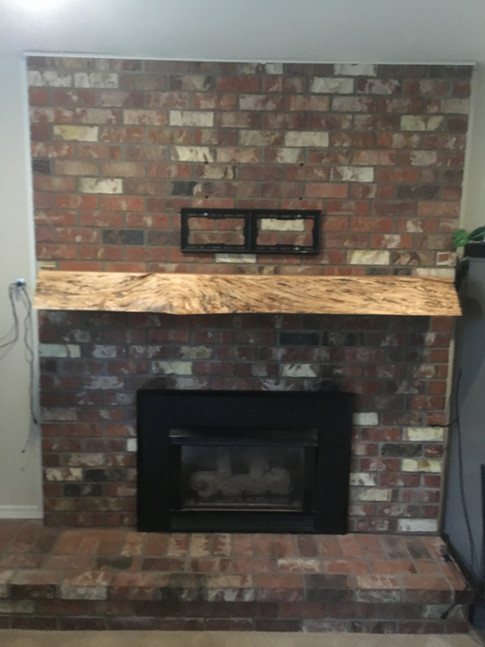 LIve Edge Spalted Maple Fireplace Mantle