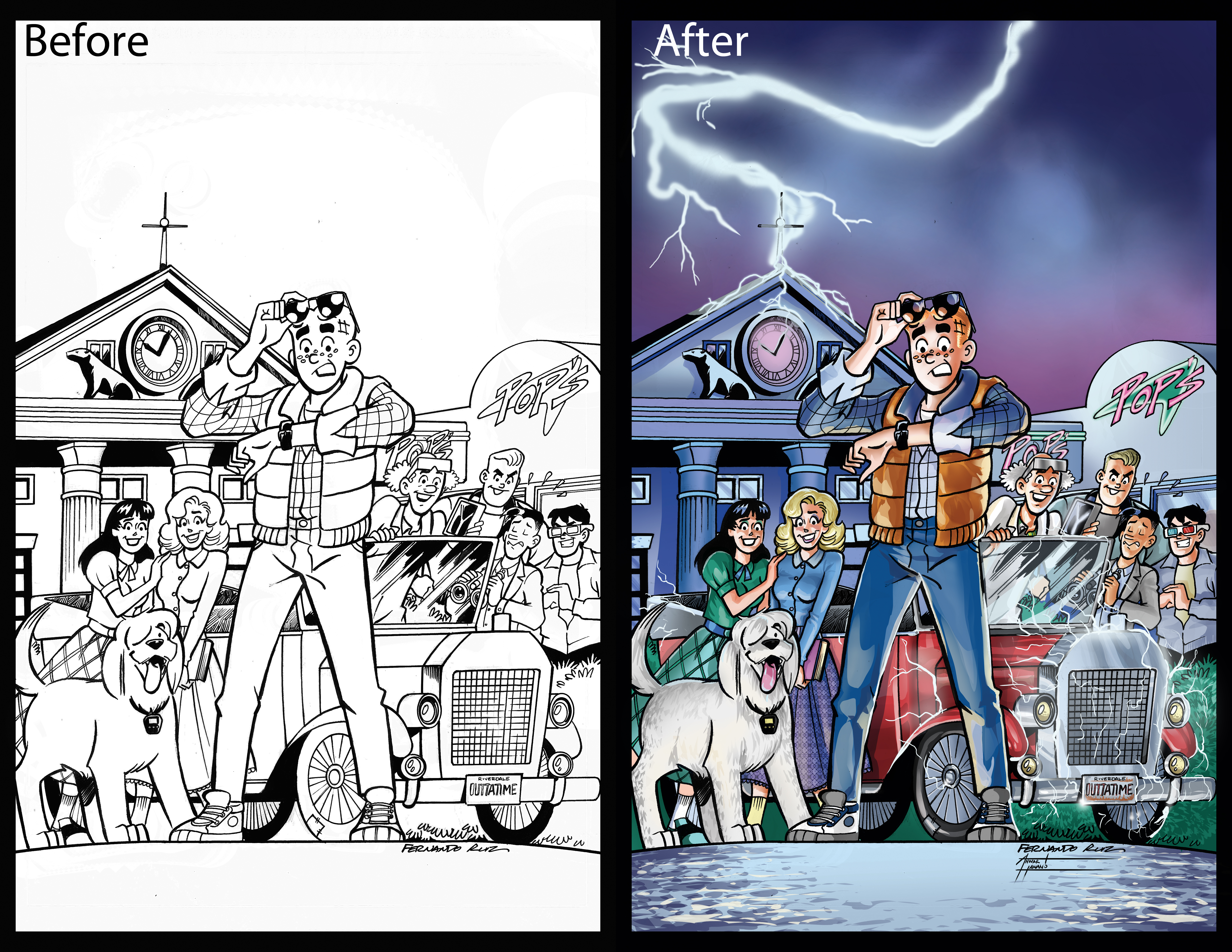 Back to the Future Variant Cover