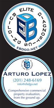 Elite Building Diagnostics Business Card.