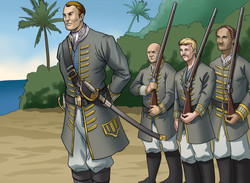 Soldiers on the Beach