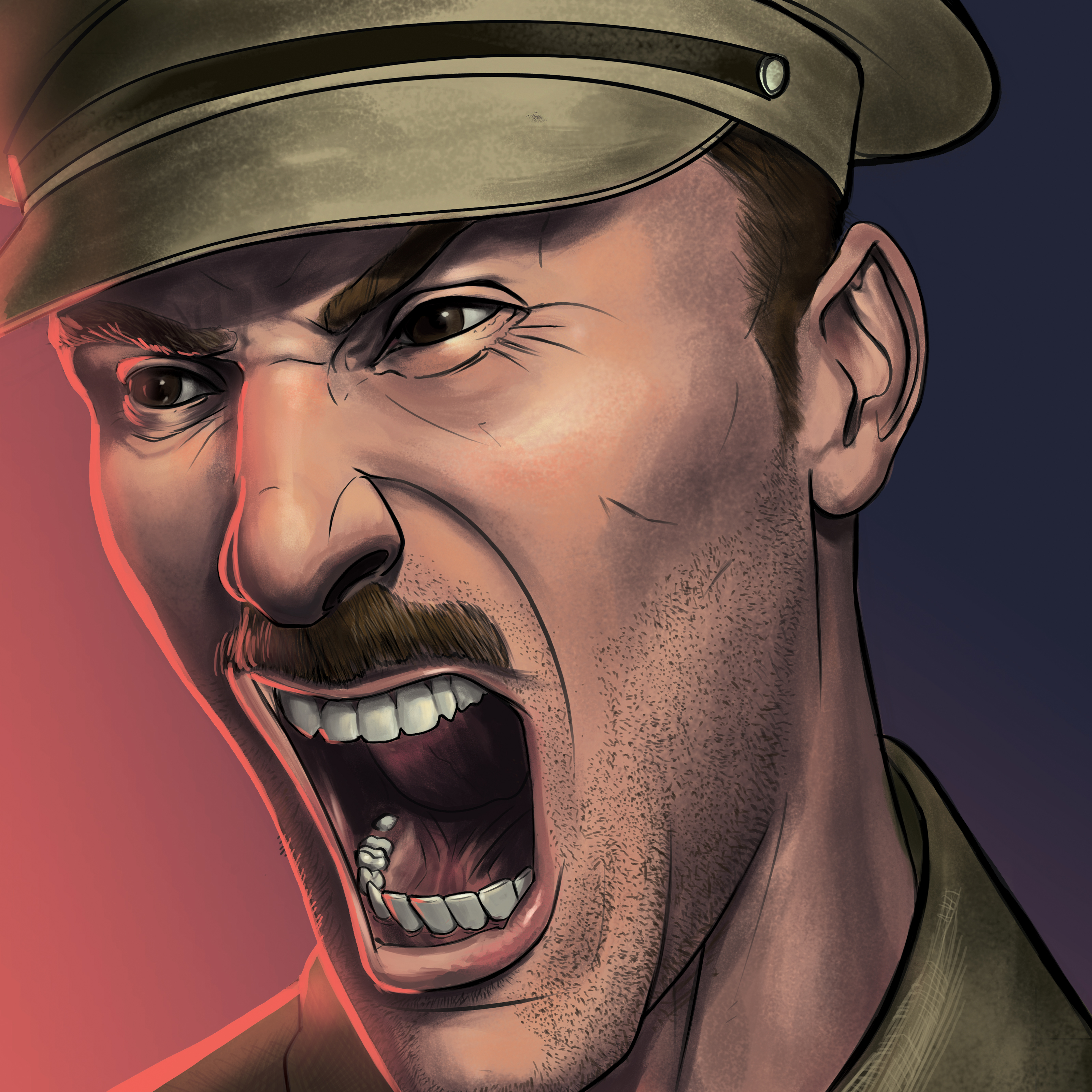 British Officer Yelling