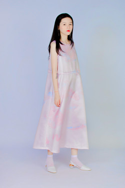 量度粉礦石 - 無袖洋裝