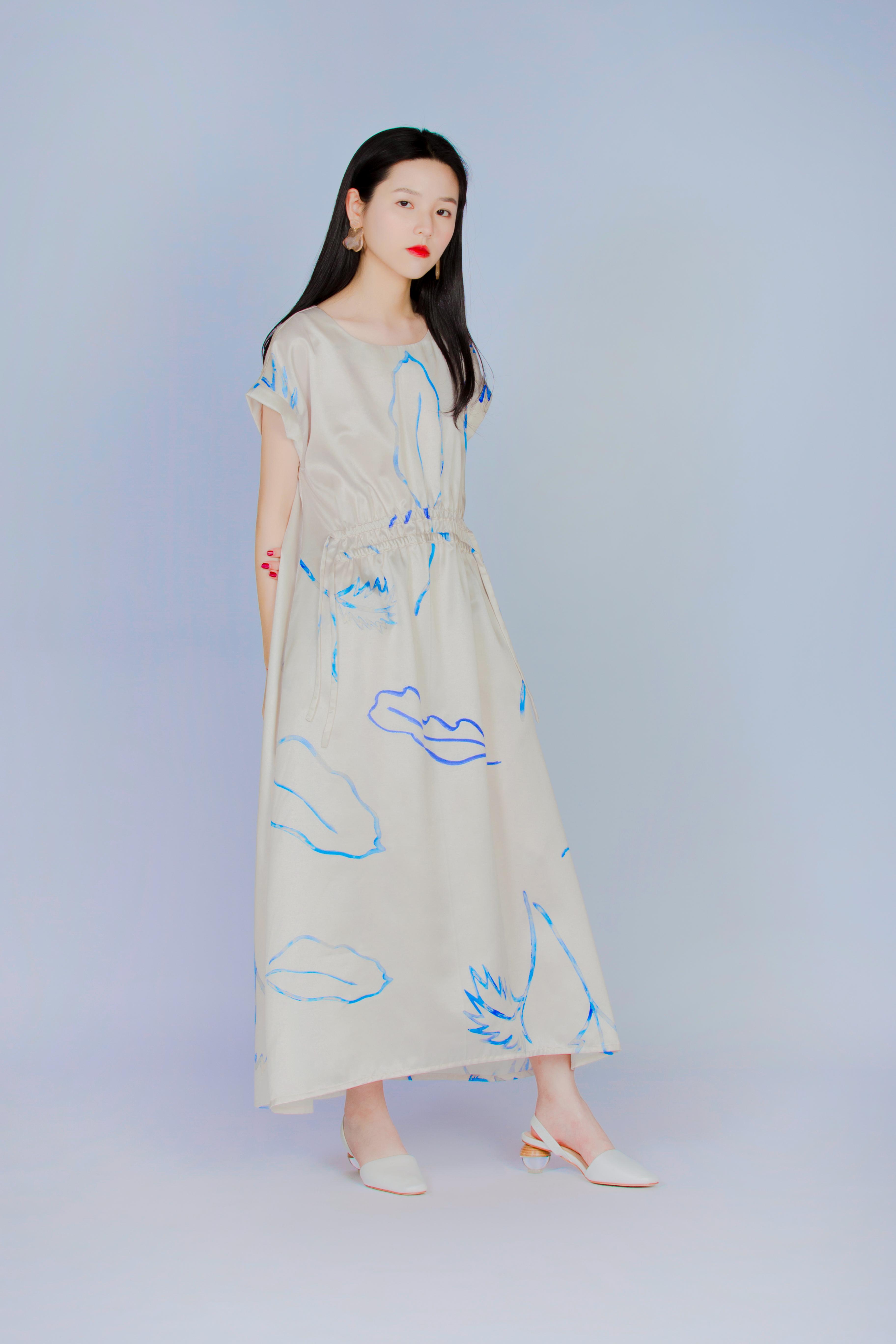 波耳粉蕨類 - 褶皺洋裝