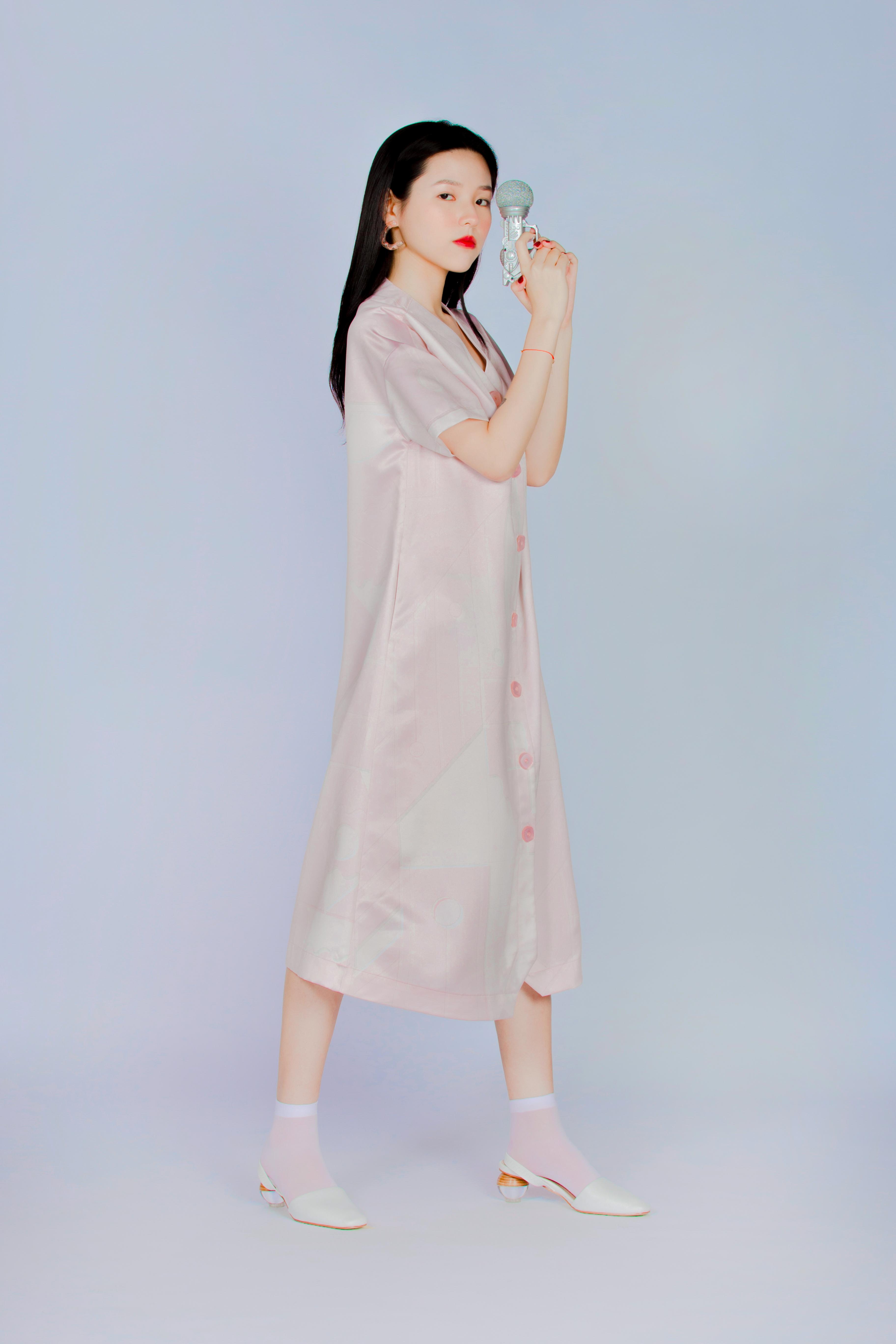 赤磁矩 - 短袖長板襯衫