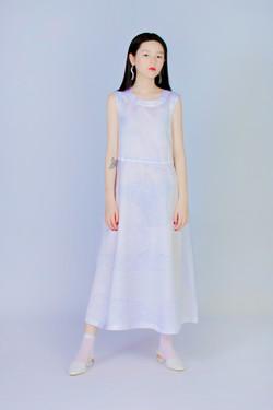 量度紫礦石 - 無袖洋裝