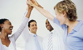 L'équipe de travail réussie