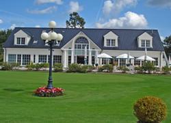 Das Clubhaus des Golf-Park Sülfeld