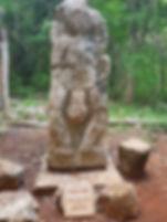 Gott der Fruchtbarkeit in der archäologischen Stätte von Sayil. Mahametta Reisen
