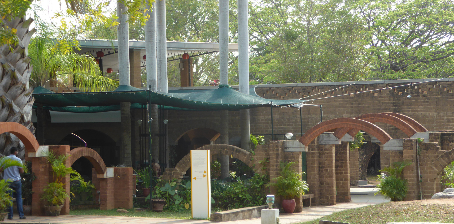 Visitor´s center in Auroville