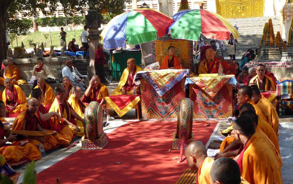 Tibetische Puja in Bodhgaya