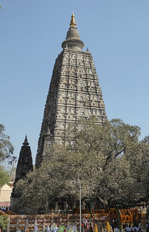 Main buddhist stupa in Bodhgaya, India. Spiritual travels with MahaMetta