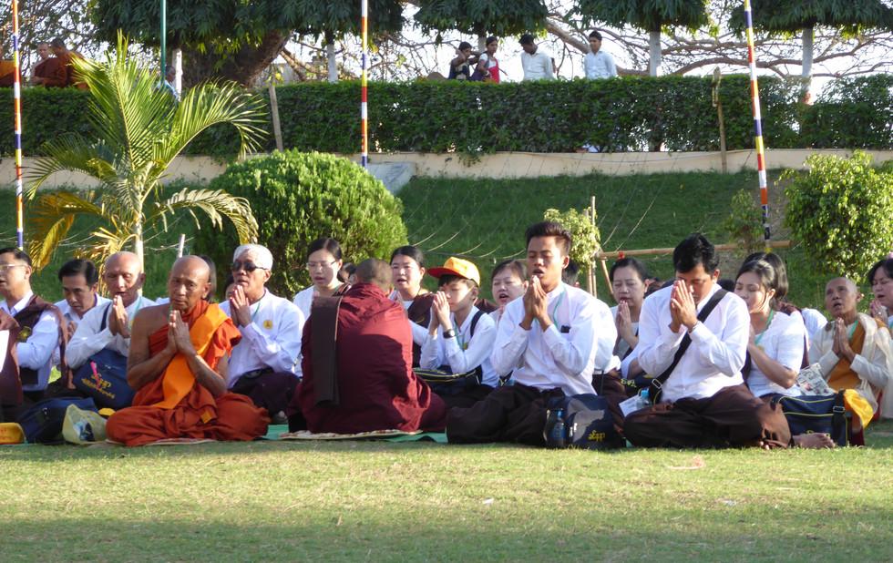 In der Mahabodhi Complex, Bodhgaya