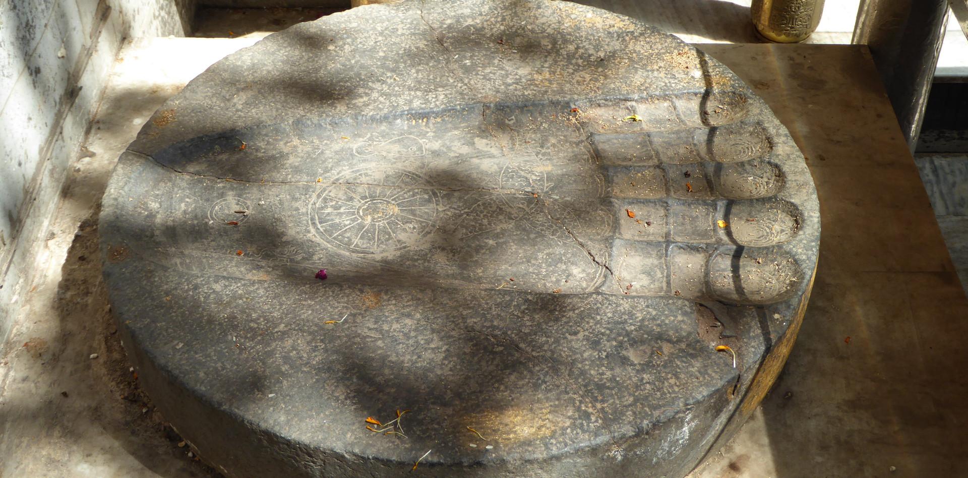 Darstellung des Fußes von Buddha