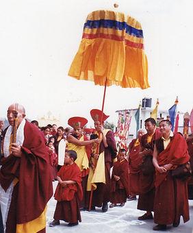 Swambunath, Nepal. Tenga Rinpoche und Jamgong Rinpoche. Buddhistisches Meditation Seminar mit Mahametta