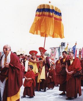 Swambunath, Nepal. Tenga Rinpoche and Jamgong Rinpoche. Workshop about Buddhist Meditation with Mahametta Akademie
