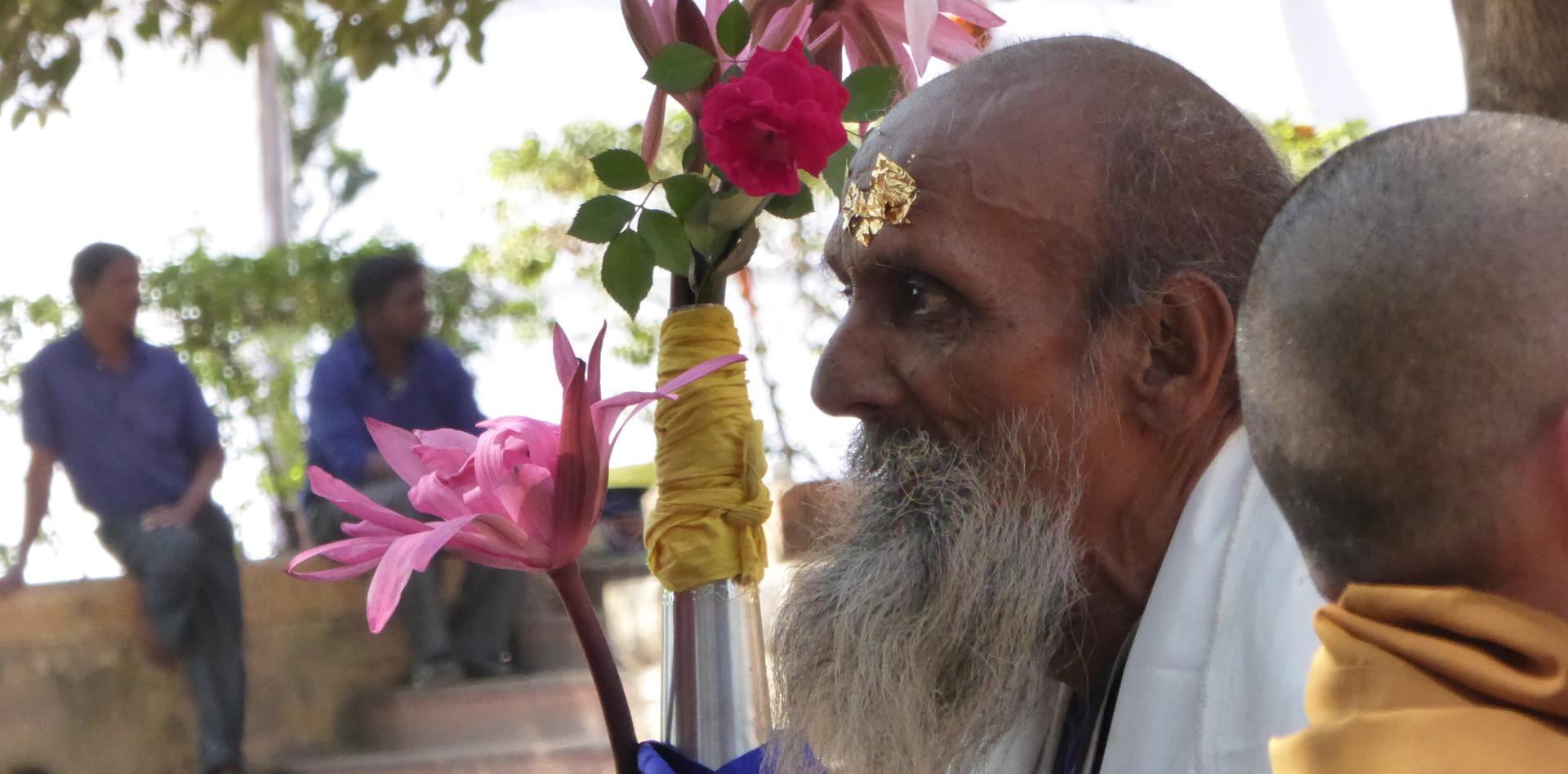 A devotee in Bodhgaya