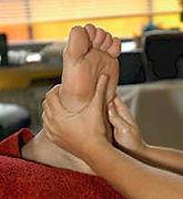 Reflexologie, Reflexzonen. Füße und Hände. Bei Maya in München