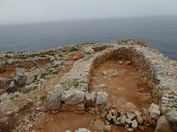 Prähistorische Siedlung. Cala Morell