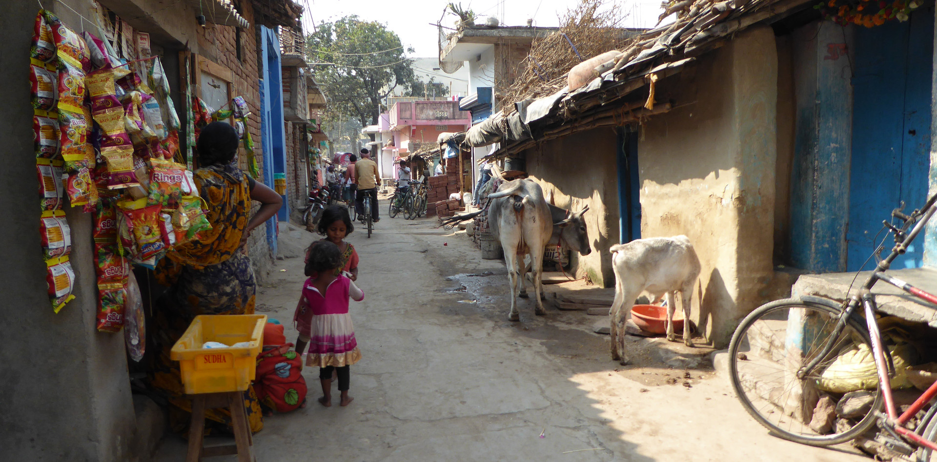 A little side street in Bodhgaya