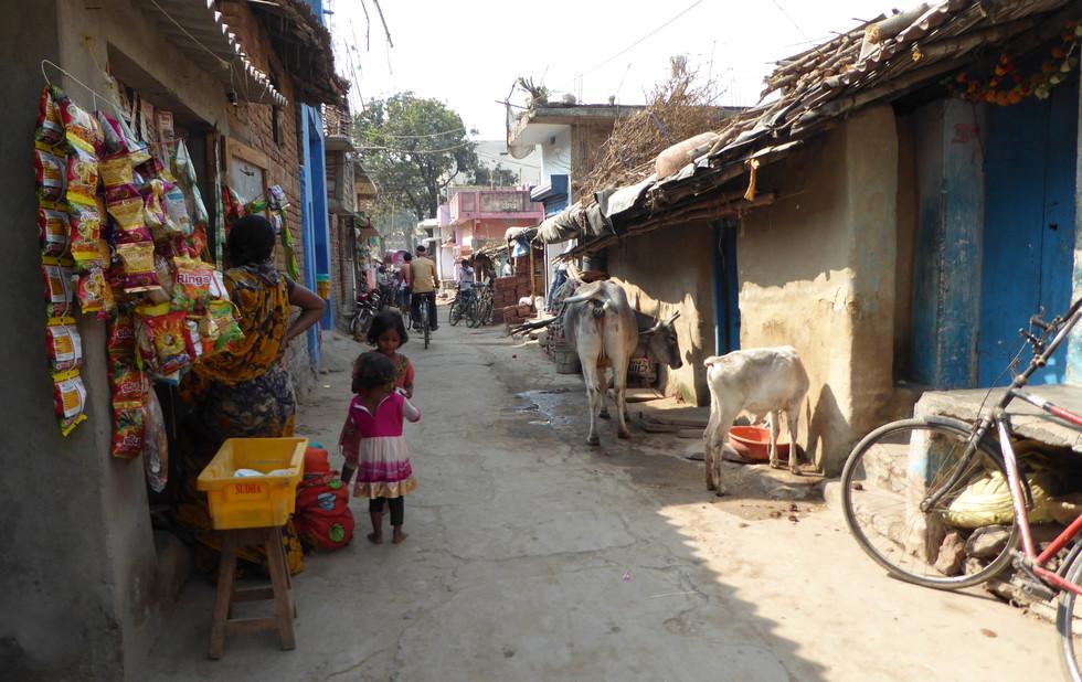 A little side street in Bodhgaya