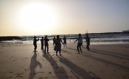 Qi Gong on a beach in Lanzarote. Shamanic Retreat with Maha Metta and Geoviva in December