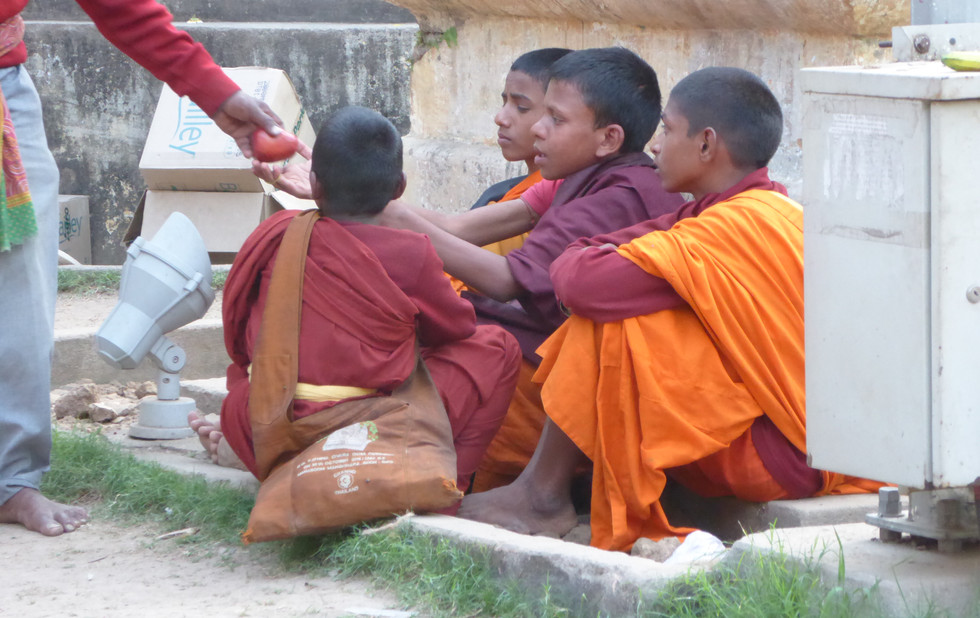 In the Mahabodhi Complex in Bodhgaya
