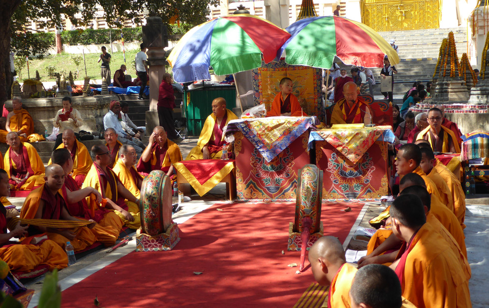 A Rinpoche during a ceremony
