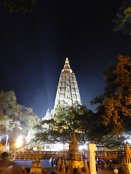 Stupa in Bodhgaya, India. Spiritual travels MahaMetta