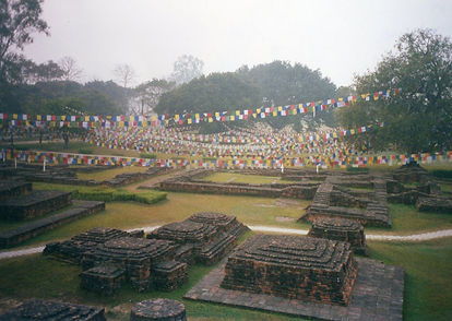 Lumbini, Nepal. Geburtsort von Gautama Buda.Buddhistisches Meditation Seminar mit Mahametta