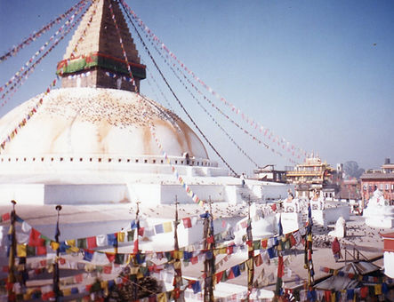 Stupa in Boudhanath, Nepal. Workshop about Buddhist Meditation with Mahametta Akademie
