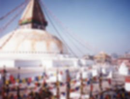 Boudhanath Stupa, Nepal. Buddhistisches Meditation Seminar mit Mahametta