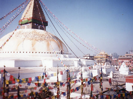 Estupa de Boudhanath, Nepal. Taller de meditación budista con la Academia Mahametta
