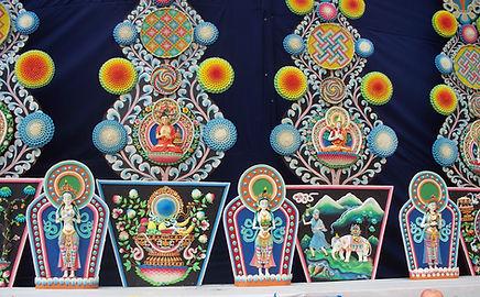 Torma in Kagyu Monlan. Lumbini, Nepal. Geburtsort von Gautama Buda. Buddhistisches Meditation Seminar mit Mahametta