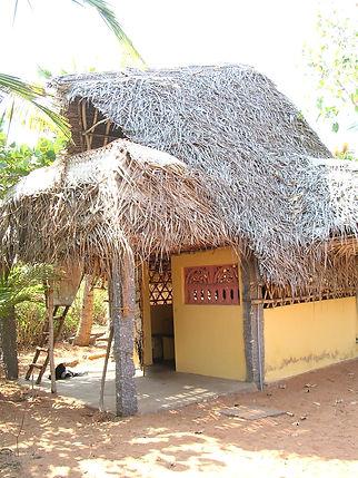 Eine der Arten von Unterkünften in Auroville. MahaMaya Spirituelle Reisen