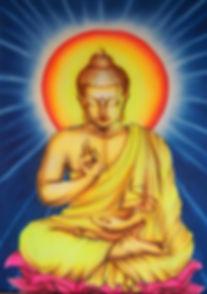 Buddha in Mudra lehren. Buddhistisches Meditationsseminar mit Mahametta